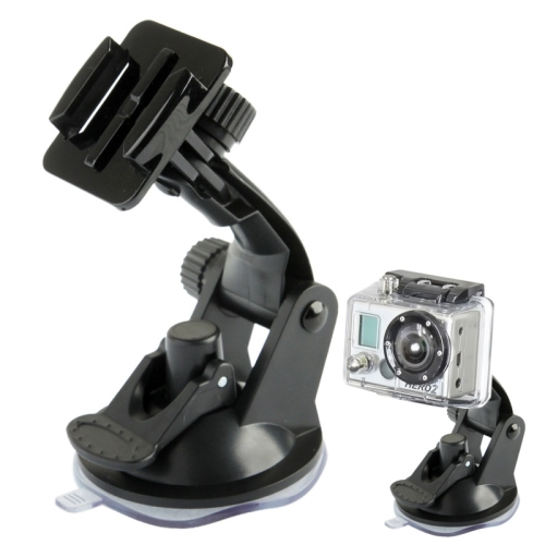 ST-17 Car Mount Dashboard & Windshield Vacuum Suction Cup for GoPro NEW HERO /HERO6 /5 /5 Session /4 Session /4 /3+ /3 /2 /1, Xiaoyi and Other Action Cameras(Black)