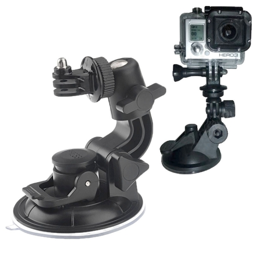 ST-72 9cm Diameter Car Window Plastic Cup Suction Mount + Tripod Holder Gadget For GoPro NEW HERO /HERO6 /5 /5 Session /4 Session /4 /3+ /3 /2 /1, Xiaoyi and Other Action Cameras(Black)