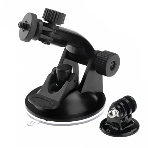 Suction Cup Mount + Tripod Adapter for GoPro NEW HERO /HERO6 /5 /5 Session /4 Session /4 /3+ /3 /2 /1, Xiaoyi and Other Action Cameras (ST-61)(Black)
