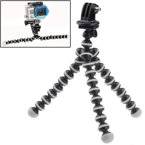 M-MO Mini Octopus Tripod with Tripod Adapter for GoPro NEW HERO /HERO6 /5 /5 Session /4 Session /4 /3+ /3 /2 /1, Xiaoyi and Other Action Cameras (ST-105) фото