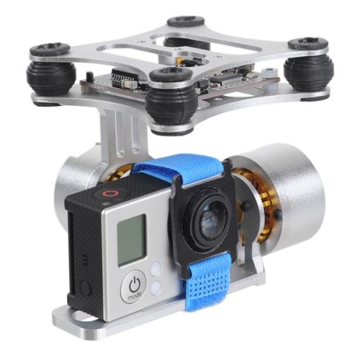 Buy DJI Phantom Brushless Gimbal Aluminum Camera Mount with Motor & BGC3.1 Controller for GoPro Hero 3 / 2 / 1 FPV Aerial Photography, Silver for $43.23 in SUNSKY store
