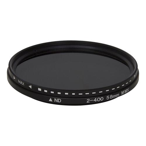 58mm ND Fader Neutral Density Adjustable Variable Filter ND 2 to ND 400 Filter(Black)