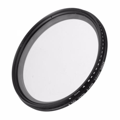 77mm ND Fader Neutral Density Adjustable Variable Filter ND 2 to ND 400 Filter(Black)