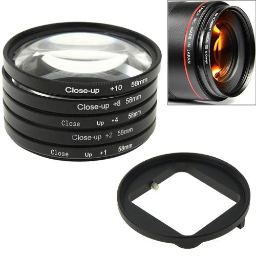 Buy 6 in 1 58mm Close-Up Lens Filter Macro Lens Filter + Filter Adapter Ring for GoPro HERO3 for $15.73 in SUNSKY store