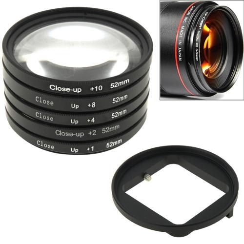Buy 6 in 1 52mm Close-Up Lens Filter Macro Lens Filter + Filter Adapter Ring for GoPro HERO4 /3+ for $15.59 in SUNSKY store