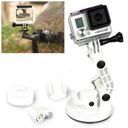 Action Camera Car Suction Cup Mount Braket for GoPro Hero 6//5//5 Session//4 Session//4//3+//3//2//1 and Other Action Cameras