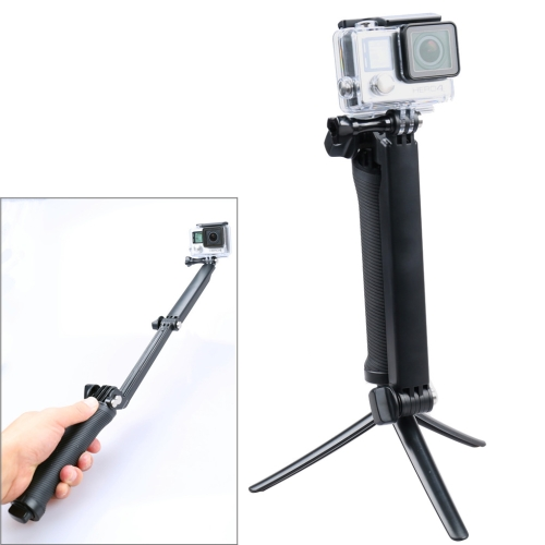 3-Way Multi Function Extendable Monopod Tripod Folding Rotating Arm Camera Handle for GoPro HERO5 Session /5 /4 Session /4 /3+ /3 /2 /1, Xiaoyi Sport Cameras