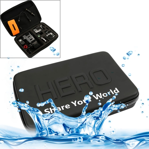 Shockproof Waterproof Portable Travel Case for GoPro NEW HERO /HERO6 /5 /4 Session /4 /3+ /3 /2 /1, Puluz U6000 and other Sport Cameras Accessories, Size: 32cm x 22cm x 7cm