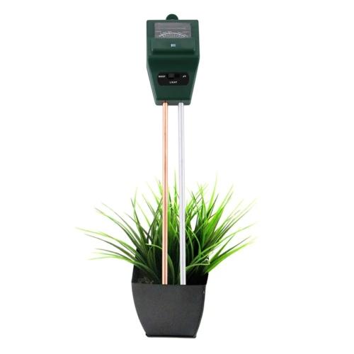 Buy 3 in 1 Plant Flowers Soil Meter (PH + Moisture + Light), Green for $3.97 in SUNSKY store