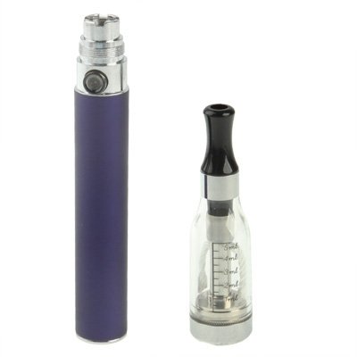 Buy D5 1100mAh Single Stem USB Rechargeable Electronic Cigarette with 5ML Atomizer (Dark Purple) for $6.64 in SUNSKY store