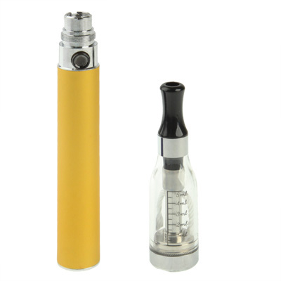 Buy D5 1100mAh Single Stem USB Rechargeable Electronic Cigarette with 5ML Atomizer, Yellow for $6.64 in SUNSKY store
