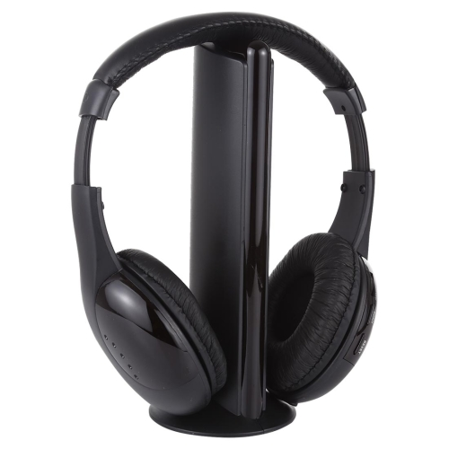 Hi-Fi 5 in 1 Wireless Headphone(Black)