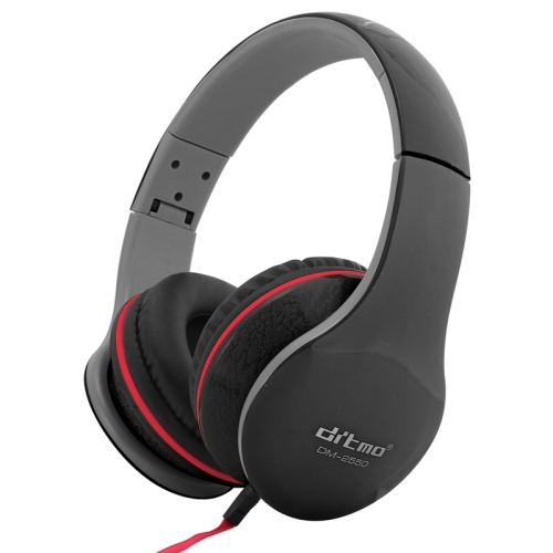 Ditmo DM-2550 Foldable Stereo Noise Canceling Headphone with Standard 3.5mm Headphone Jack for iPod / MP3 Player / Mobile Phones / Other Devices, Cord Length:1.2m, DM-2550(Black)