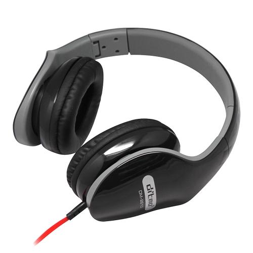 Ditmo DM-2610 Foldable Stereo Music Headphones (Headphone Cable Length 1.2 Meters) (Black)