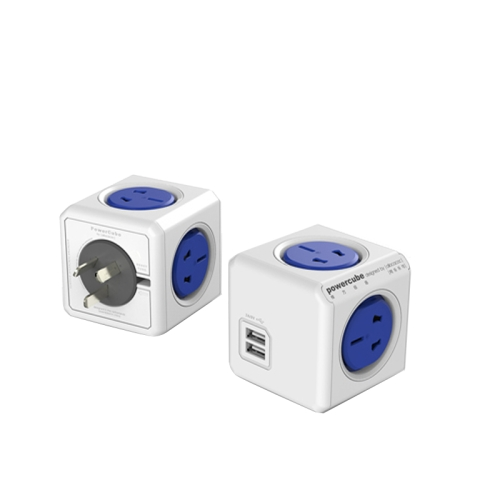 Buy PowerCube 10A Universal Wall Adapter Power Socket with 4 US / AU Sockets and 2 USB Ports for Home Office, AU Plug, Random Color Delivery for $11.14 in SUNSKY store