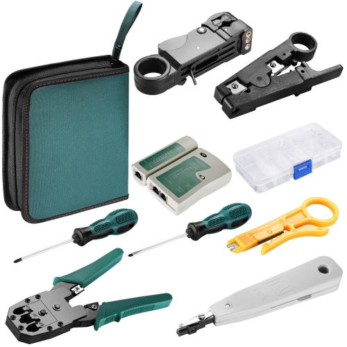8 in 1 Network Cable Tester Wire Crimp LAN RJ45 RJ11 CAT5 Analyzer Tool Kit