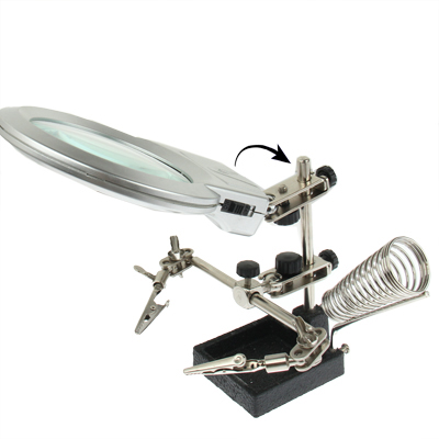 Buy Helping Hand Magnifier 2 LED Light with Soldering Stand for $6.41 in SUNSKY store