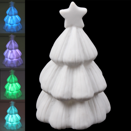 Christmas Tree Style Color-changed LED Light Night Lamp, White