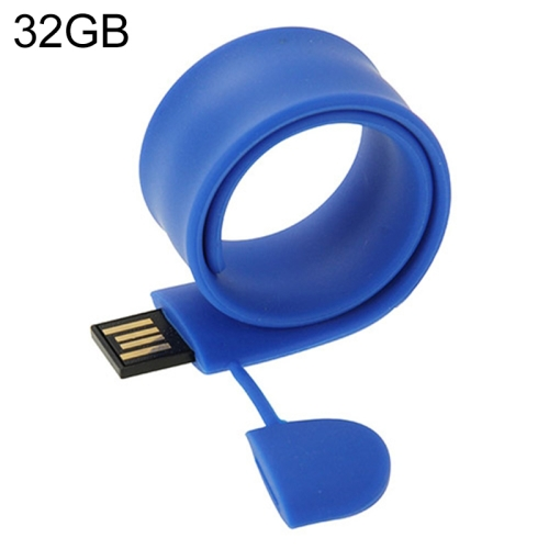 Buy Silicone Bracelet USB Flash Disk with 32GB Memory (Dark Blue) for $14.64 in SUNSKY store