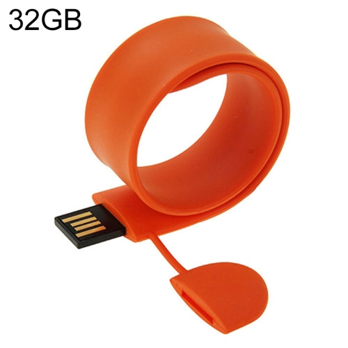 Buy Silicone Bracelet USB Flash Disk with 32GB Memory, Orange for $14.64 in SUNSKY store