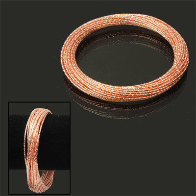 Buy 30-circle Design Cuff Bangle Bracelet Wrist Decoration Jewelry  (Orange ), Orange for $2.46 in SUNSKY store