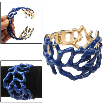 Buy Cuff Bangle Bracelet Wrist Decoration Jewelry, Blue for $4.31 in SUNSKY store