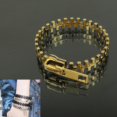 Buy Zipper Design Cuff Bangle Bracelet Wrist Decoration Jewelry for $1.48 in SUNSKY store