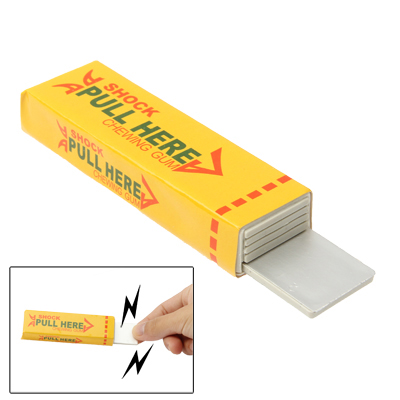 Buy Shock Chewing Gun Practical Joke Funny Trick Shock Toy, Yellow for $1.01 in SUNSKY store