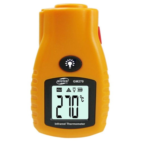 BENETECH Digital Mini Infrared Thermometer, Temperature Range: -32 280 Degree, GM270, Yellow