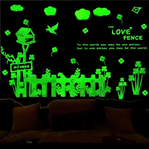 Buy Fence and Mailbox Pattern Fluorescent Self-adhesive Wall Stickers for Home Decoration, Size: 40cm x 30cm for $2.71 in SUNSKY store