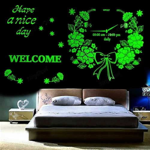 Buy Open Time Pattern Fluorescent Self-adhesive Wall Stickers for Home Decoration, Size: 40cm x 30cm for $2.71 in SUNSKY store