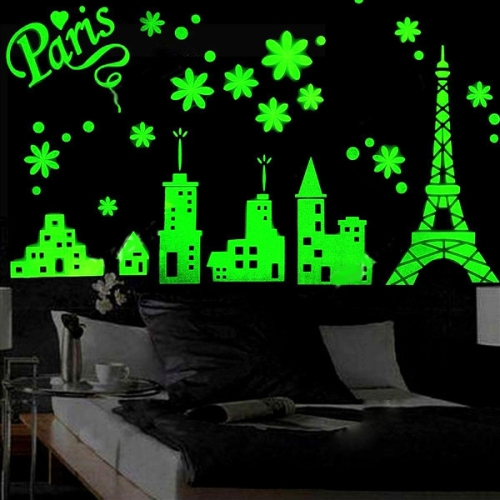 Buy Eiffel Tower Pattern Fluorescent Self-adhesive Wall Stickers for Home Decoration, Size: 40cm x 30cm for $2.71 in SUNSKY store