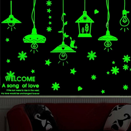 Buy Light Bulbs Pattern Fluorescent Self-adhesive Wall Stickers for Home Decoration, Size: 40cm x 30cm for $2.71 in SUNSKY store