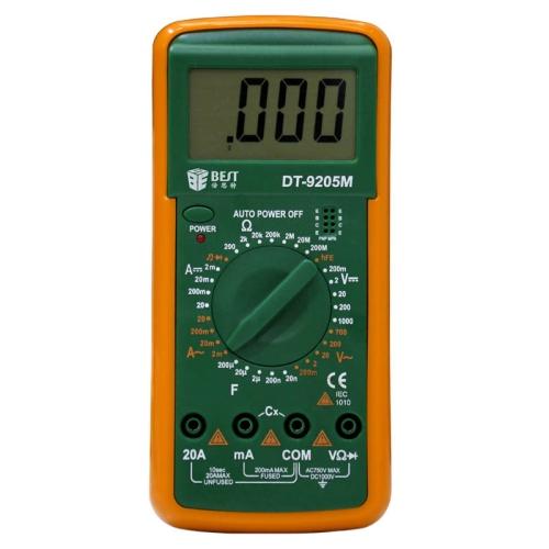 Buy BEST 9205M 9V Handheld LCD Screen Digital Multimeter with Buzzer Test Meter for $5.43 in SUNSKY store