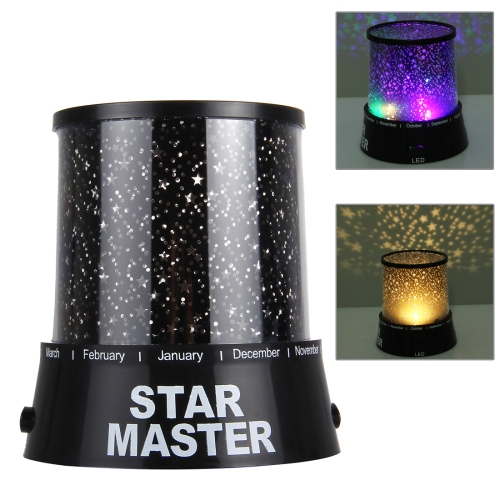 Night Light Projector Lamp, Creative Energy Saving Lamp(Black)
