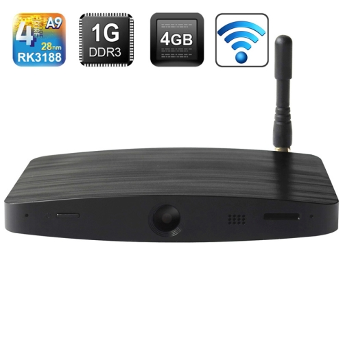 Buy Measy B4C Quad-core Android Box Built-in Camera & Mic & Bluetooth, Black for $67.13 in SUNSKY store