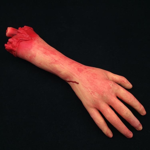 Halloween April Fool Day Prop Body Parts Decoration Bloody Hand
