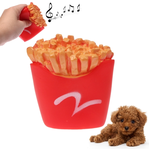 Buy French Fries Shape Plastic Pet Toys with Whistle for Dogs / Cats, Red for $1.45 in SUNSKY store