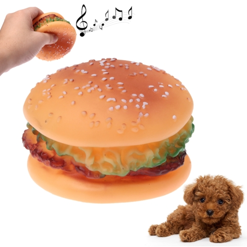 Buy Hamburger Shape Plastic Pet Toys with Whistle for Dogs / Cats for $1.31 in SUNSKY store