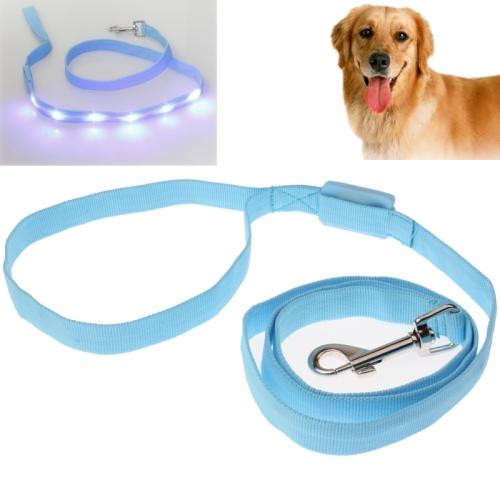 Buy Portable LED Light Flexible Leash String Strap Rope Lead for Dog, Blue for $5.64 in SUNSKY store