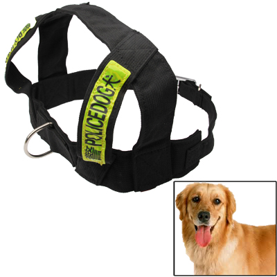 Buy 2-in-1 Fashionable Nylon Harness & Lead Leash Traction Rope Dog Rope Chain Set for Police Dog, Black for $6.14 in SUNSKY store