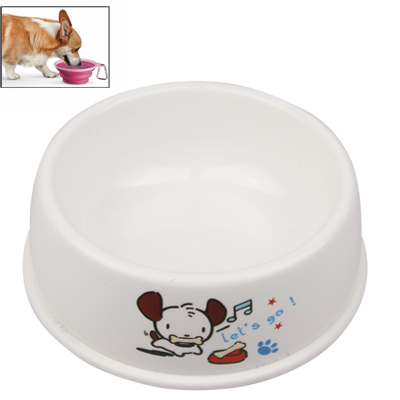 Buy High-quality Environmental Friendly PP Plastic Dog Bowl Pet Water Feed Bowl, Random Pattern Delivery, White for $1.19 in SUNSKY store