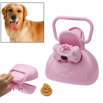 Buy Pet Plastic Pooper Scoopers, Clip Implement, Pick Up Box, Pink for $2.29 in SUNSKY store