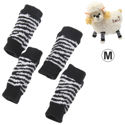 Buy Black and White Stripe Style Pet Dog Cat Socks, Size: M, Black for $1.89 in SUNSKY store