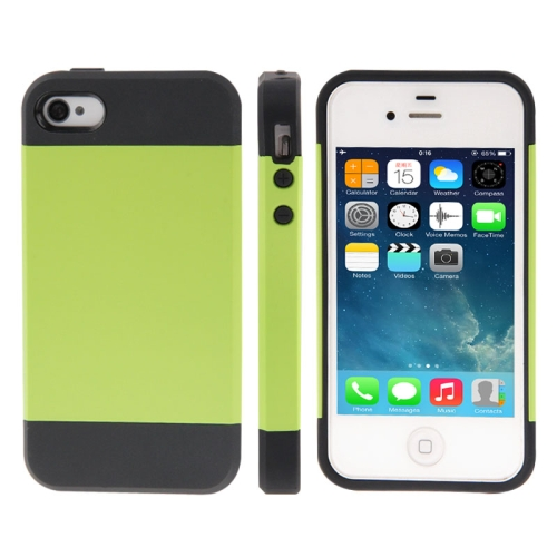 Buy Tough Armor Plastic + TPU Combination Case for iPhone 4 & 4S, Green for $1.46 in SUNSKY store