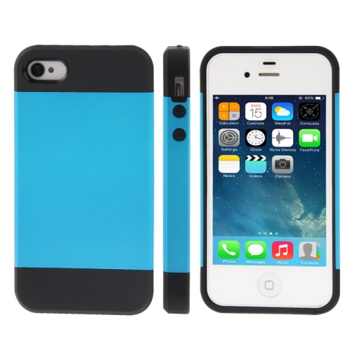 Buy Tough Armor Plastic + TPU Combination Case for iPhone 4 & 4S, Blue for $1.39 in SUNSKY store