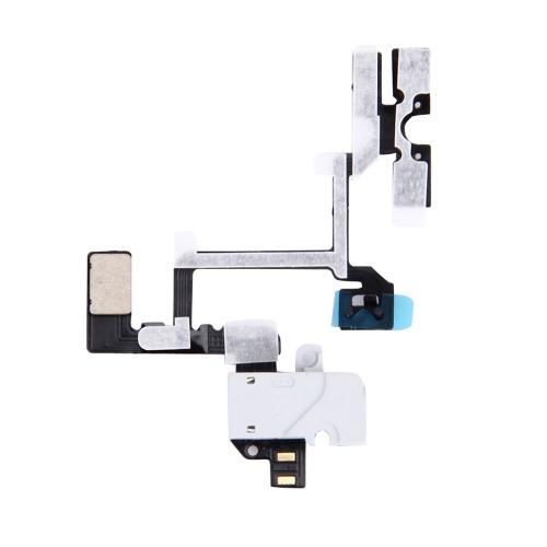 Original Headphone Audio Jack Ribbon Flex Cable for iPhone 4(White)