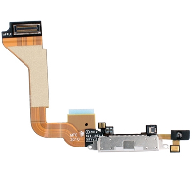 Original Tail Connector Charger Flex Cable for iPhone 4(White)