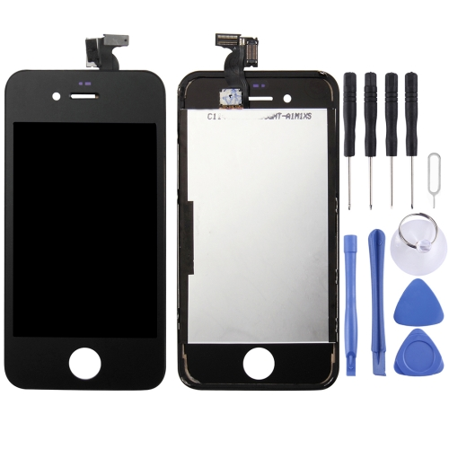 LCD Screen and Digitizer Full Assembly with Frame for iPhone 4(Black)