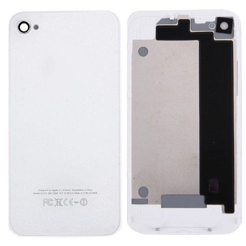 Glass Back Cover for iPhone 4(White)